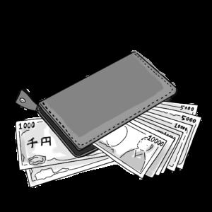 イラスト-財布とお金